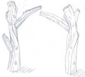 Design for entrance feature for south eastern entrance to the orchard