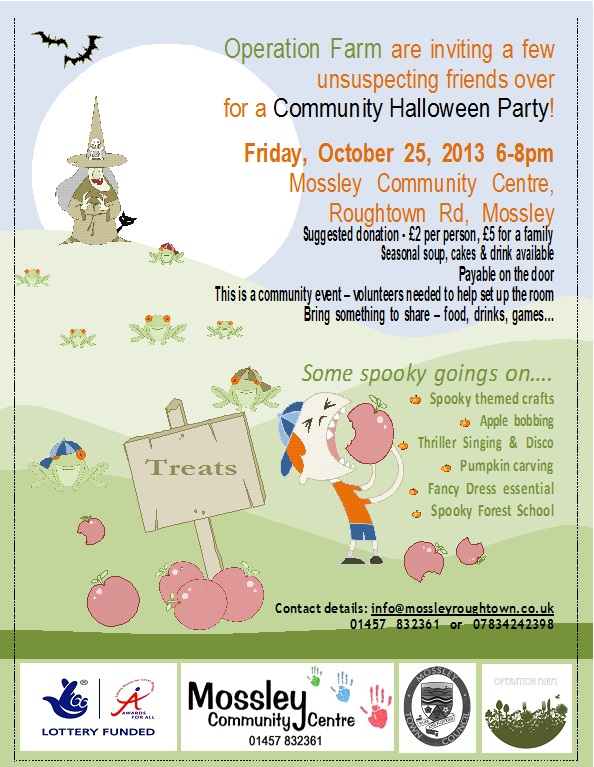 Community Halloween Party 25th October 2013 6-8pm