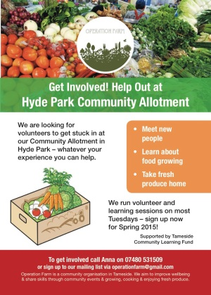 Operation Farm Community Allotment flyer