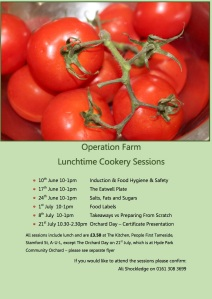 Flyer for cookery session June-July 2015