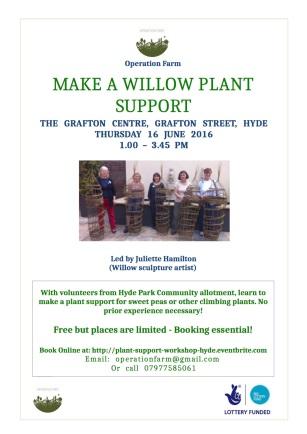 20160527 Plant supports Workshop June 16